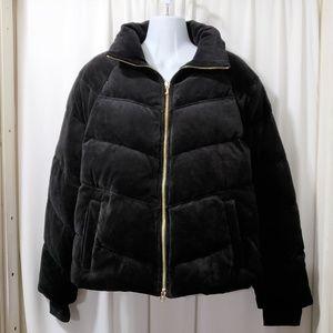 Juicy Couture Black Velvet Puffer Jacket 😎
